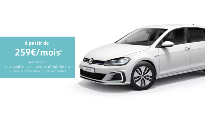 Golf GTE offre particuliers