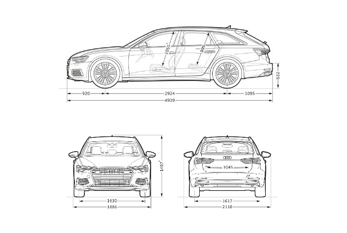 Nouvelle Audi RS6 Avant 2020 dimension longueur