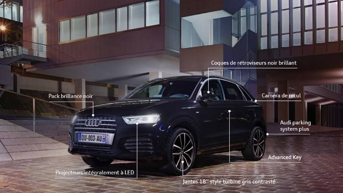Actu Audi Midnight Séries A1 - A3 Sportback - Q3 -