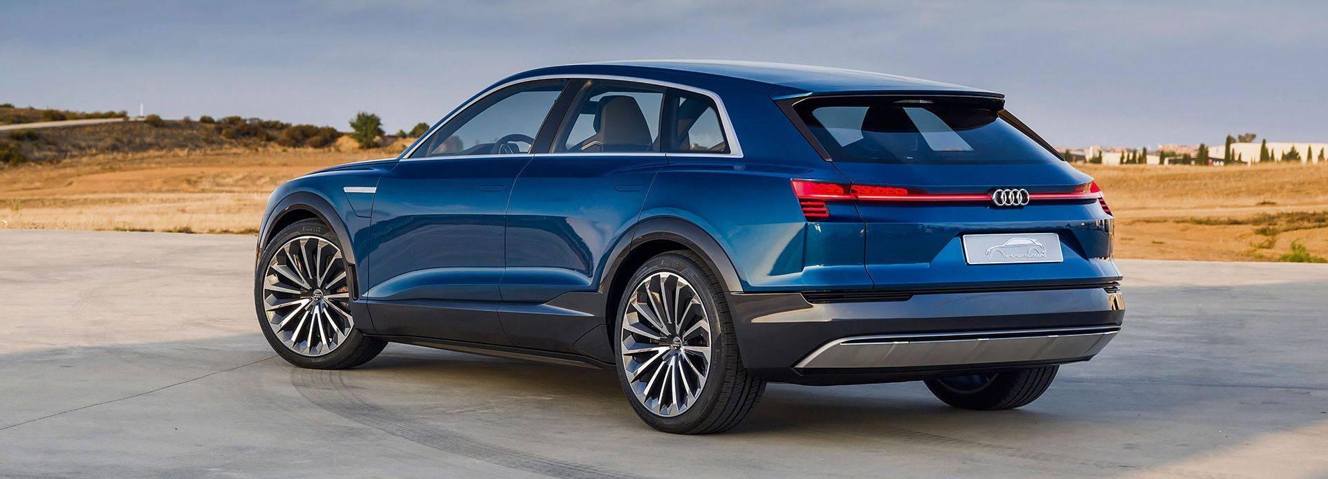 Audi e-tron quattro concept 2018 bleu