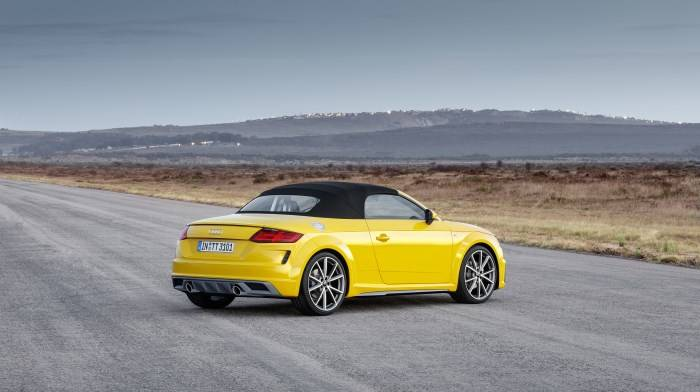 Audi TT Roadster 2019 Jaune face arrière