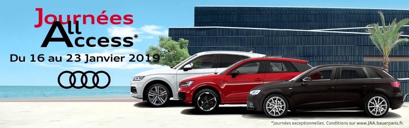 Journées All Access Audi neuve Janvier 2019