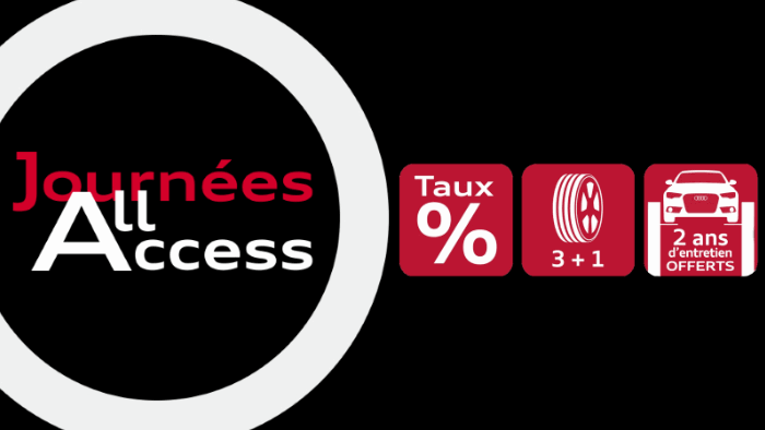 Journées Audi Occasion All Access promo remise tau