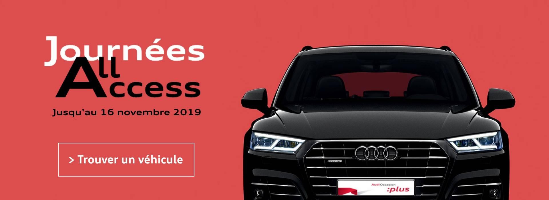 Audi occasion journées All Access offres promotion
