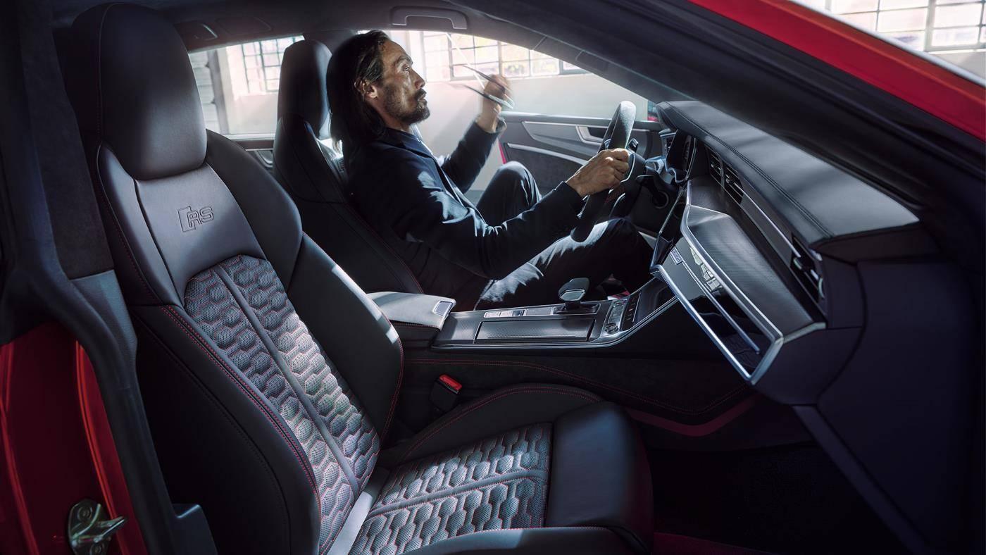 Nouvelle Audi RS7 TDI intérieur sièges cuir noir