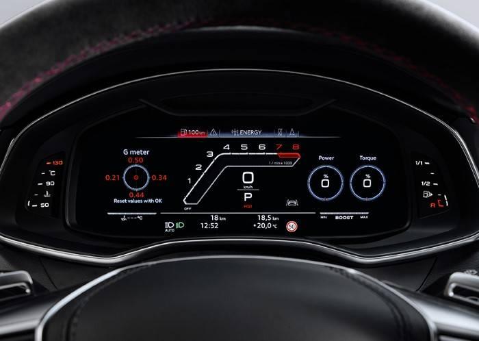 Nouvelle Audi RS7 TDI intérieur virtual cockpit