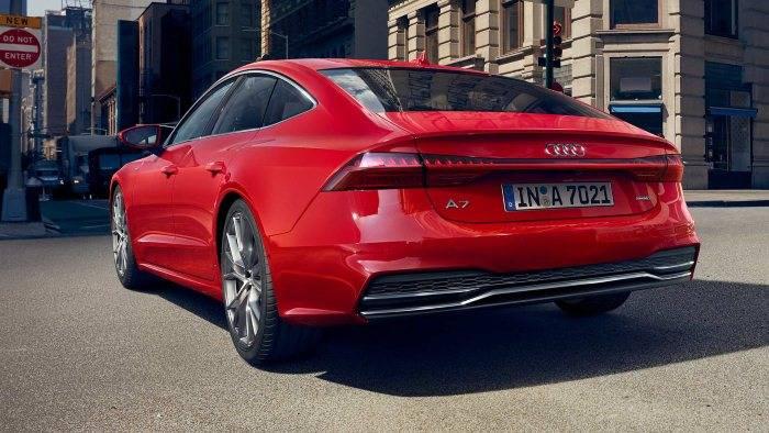 Nouvelle Audi A7 Sportback 2018 rouge arriere