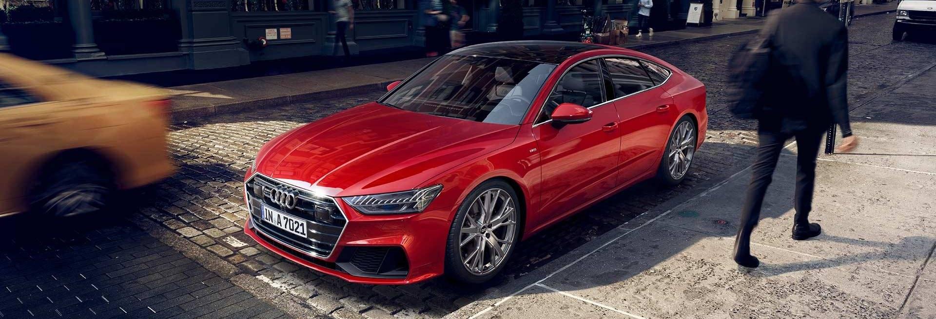Nouvelle Audi A7 Sportback 2018 rouge