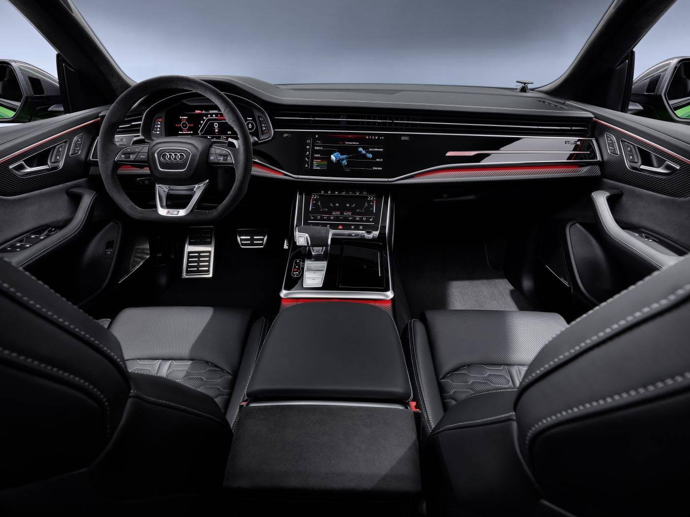 Nouvelle Audi RSQ8 sport intérieur siège photo
