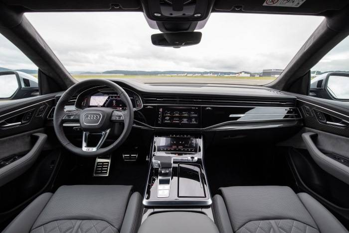 Nouvelle Audi SQ8 TDI 2019 2020 intérieur gris
