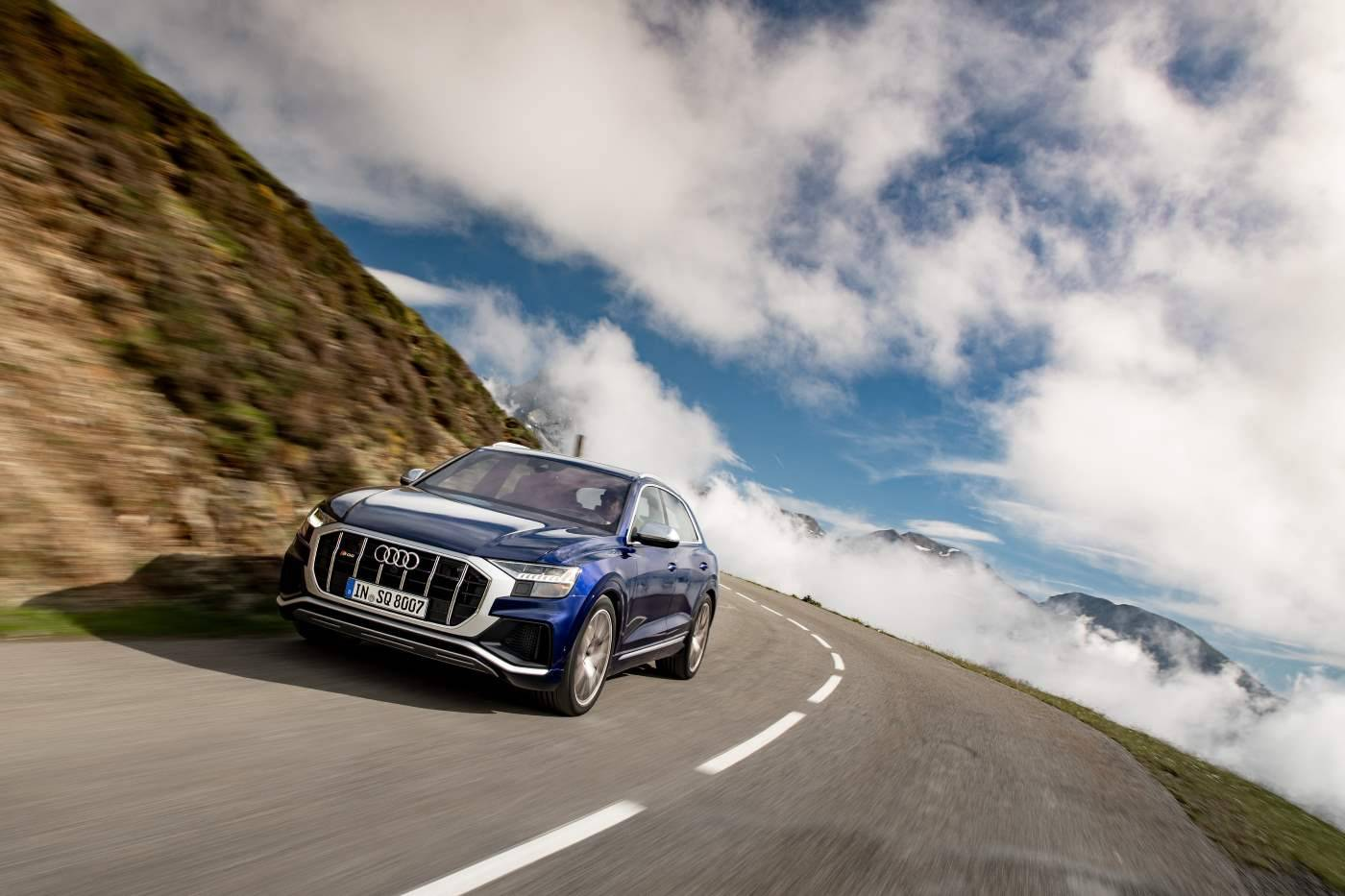 Nouvelle Audi SQ8 TDI 2019 2020 suspension sport
