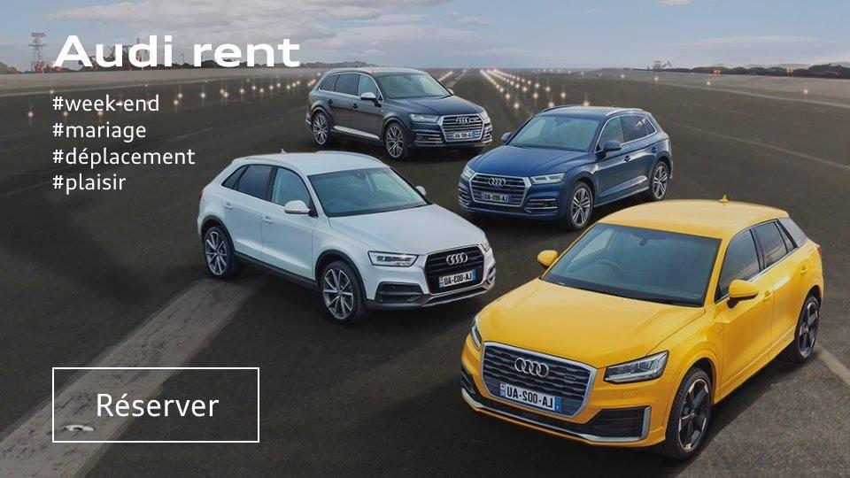 Audi rent, location de voiture Audi, prix, Paris