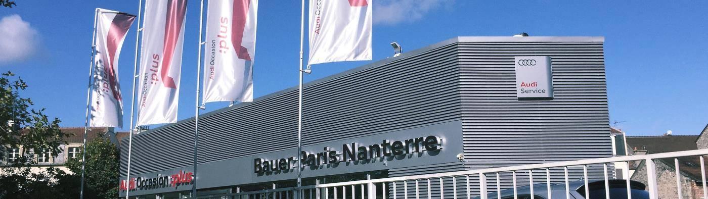 Audi Bauer Paris Nanterre > Façade vue de rue