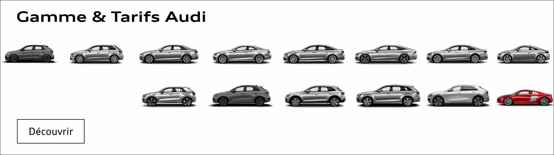 Gamme, catalogues, tarifs modèles Audi