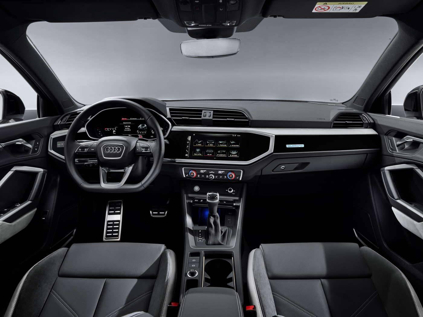 Nouvelle Audi Q3 Sportback 2019 siège avant consol
