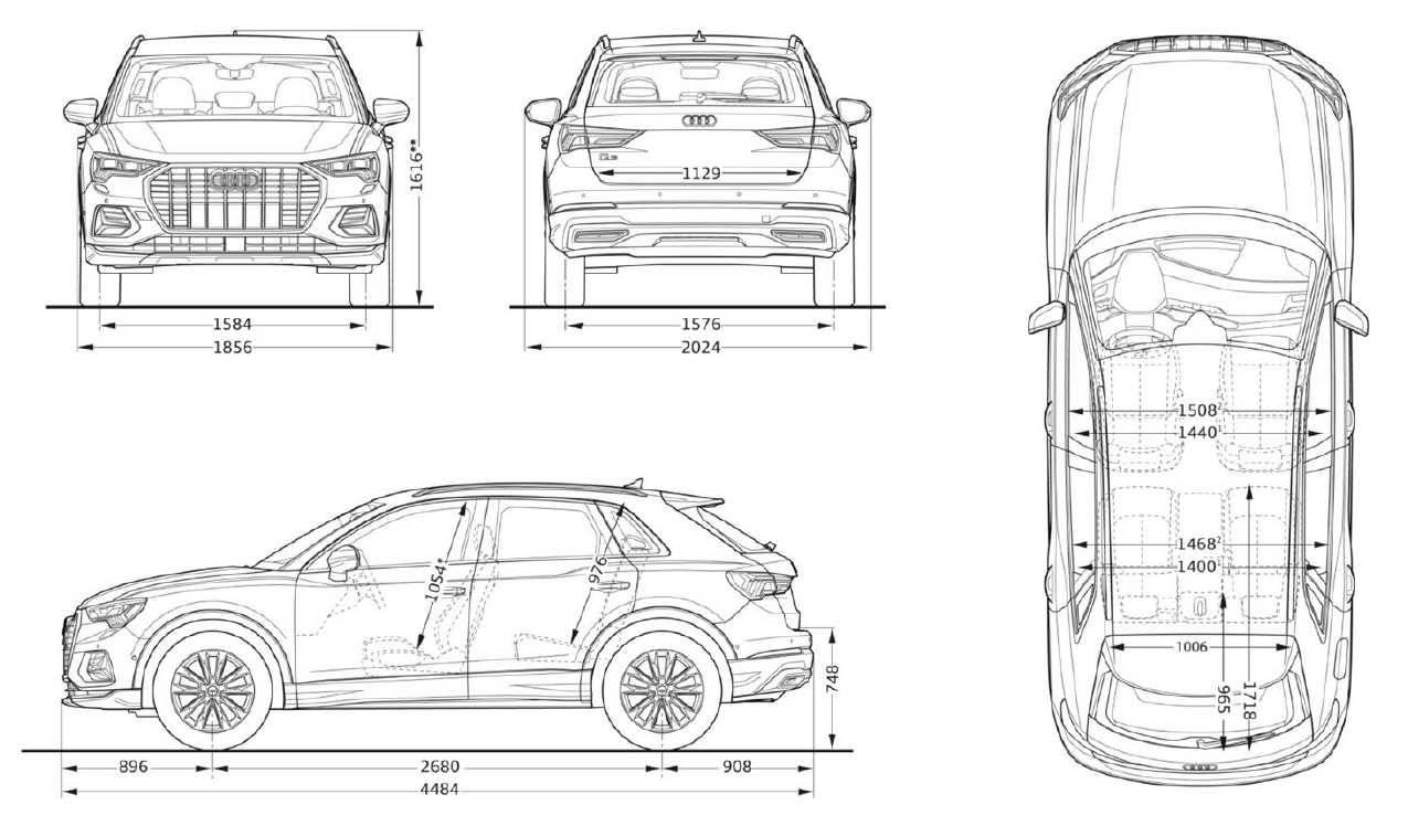 Audi Q3 2019 - Dimensions