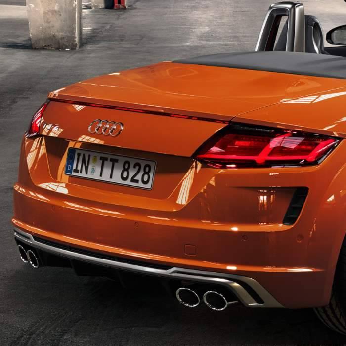 Nouvelle Audi TTS roadster coffre