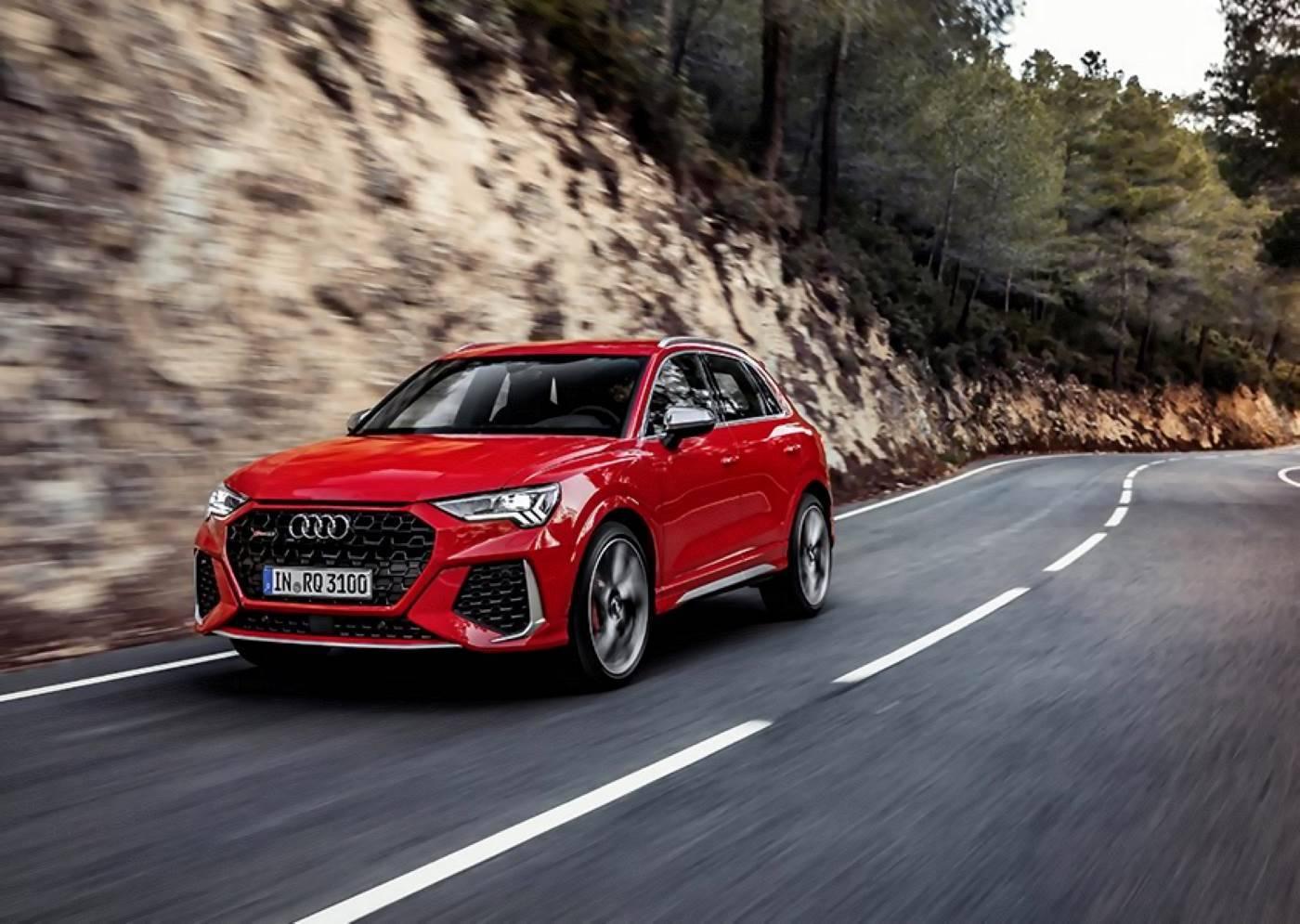 Nouvelle Audi RSQ3 2020 3/4 avant rouge