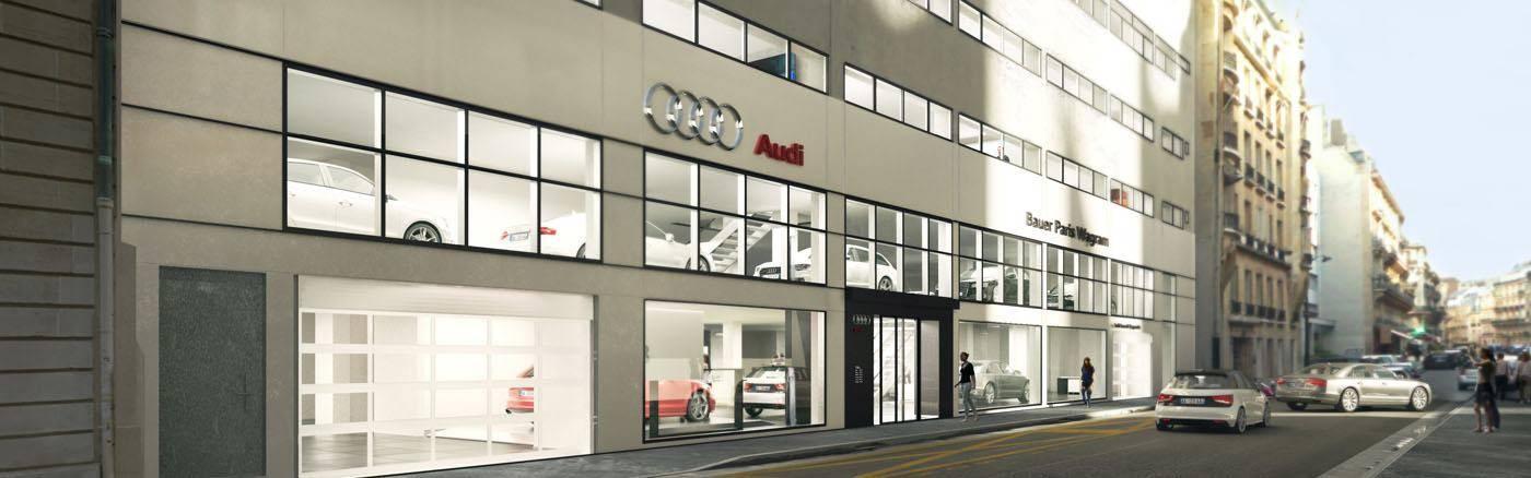 Audi Bauer Paris Wagram - Projection archi header