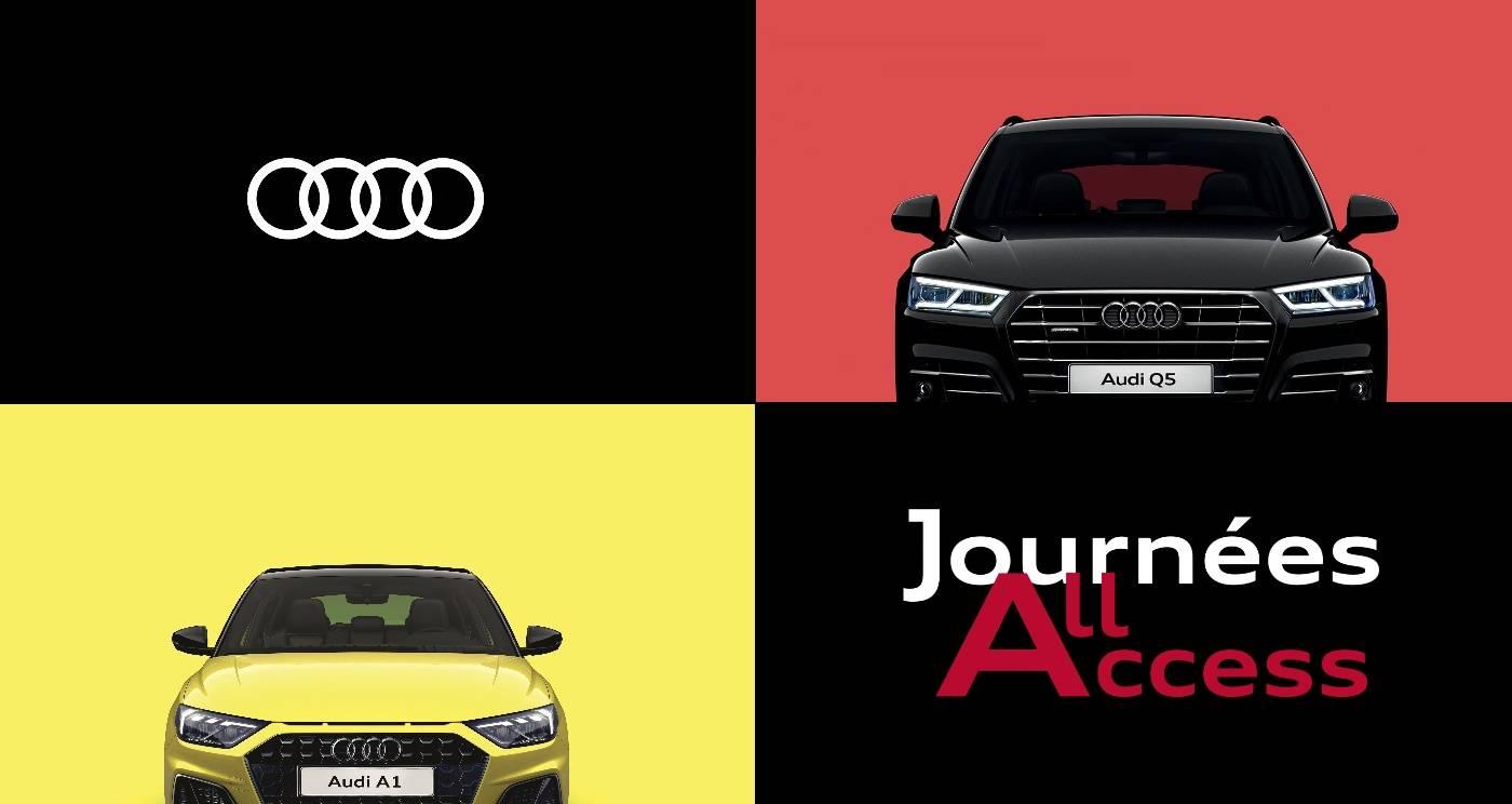 Journées All Access Audi neuve A1 Q5 Q2 Q3 promo