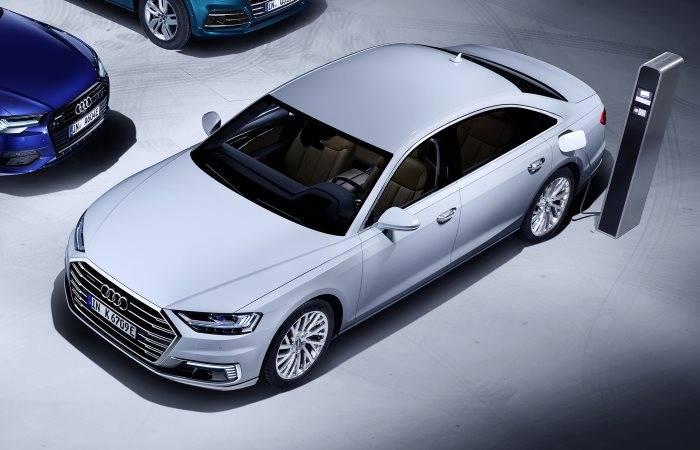 Audi A8 TFSIe hybride electrique essence