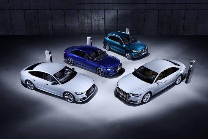 Audi hybride rechargeable 2019 : A6 A7 A8 Q5 TFSIe
