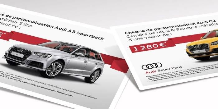 Chèque offre promotion Audi A3 Sportback - Q2