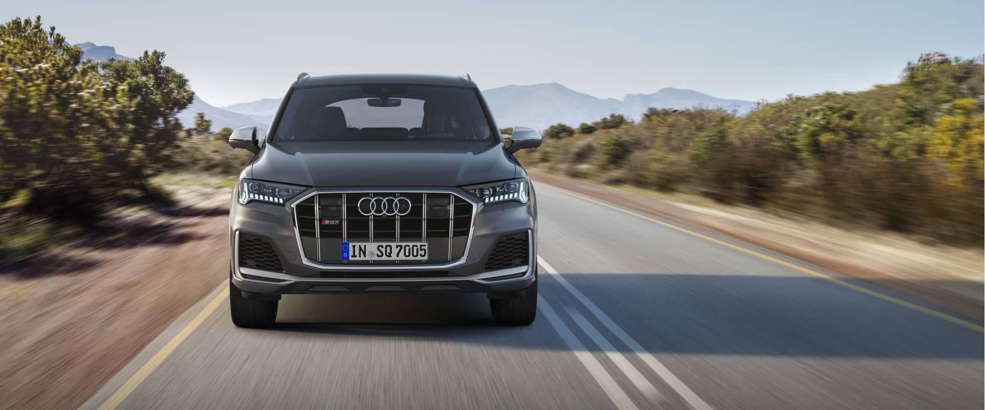 Nouvelle Audi SQ7 TDI 2019-2020 face avant rapide