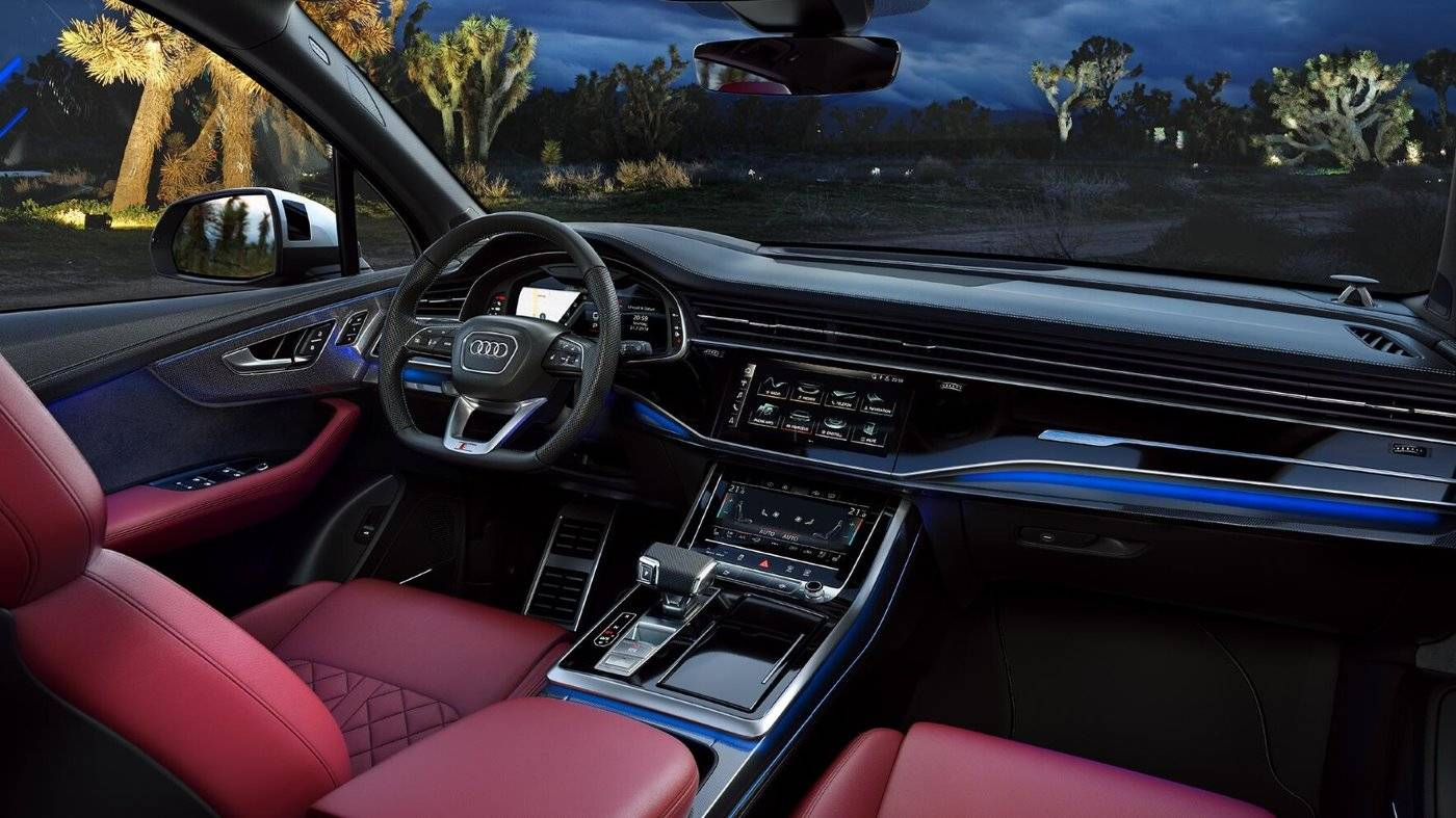 Nouvelle Audi SQ7 TDI 2019 cuir rouge intérieur
