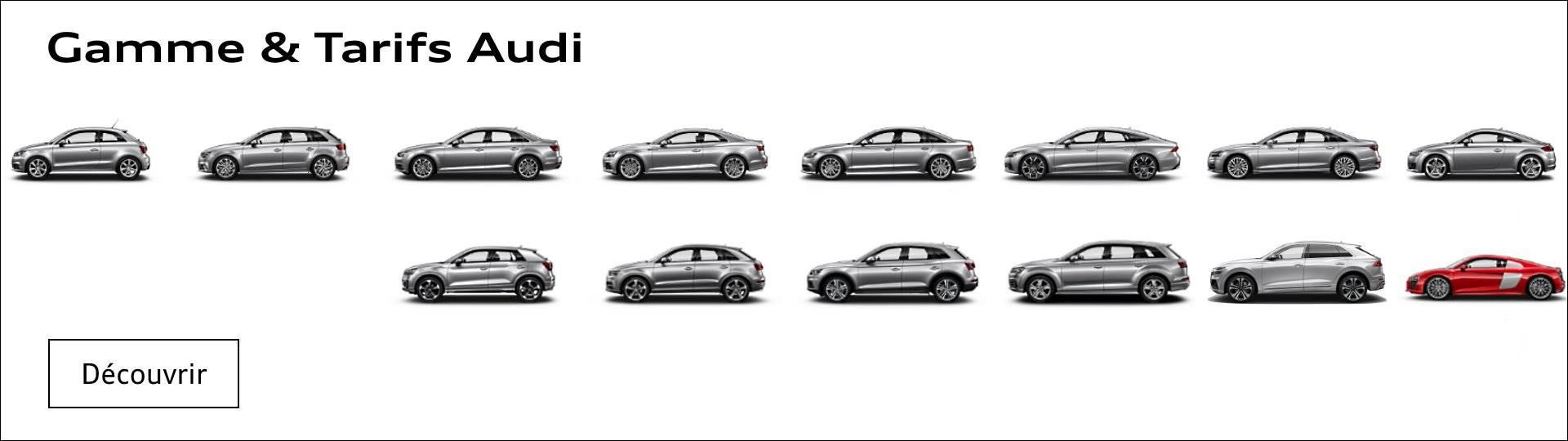 Tarifs Audi A1 A3 A4 A5 A6 A7 A8 Q2 Q3 Q5 Q7 Q8 TT