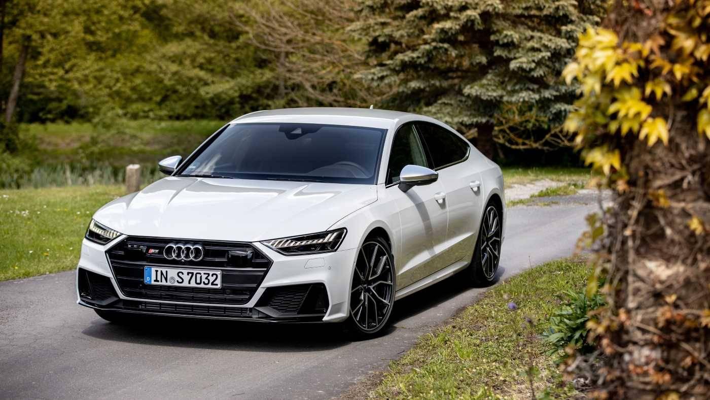 Nouvelle Audi S7 Sportback blanche 2020 face