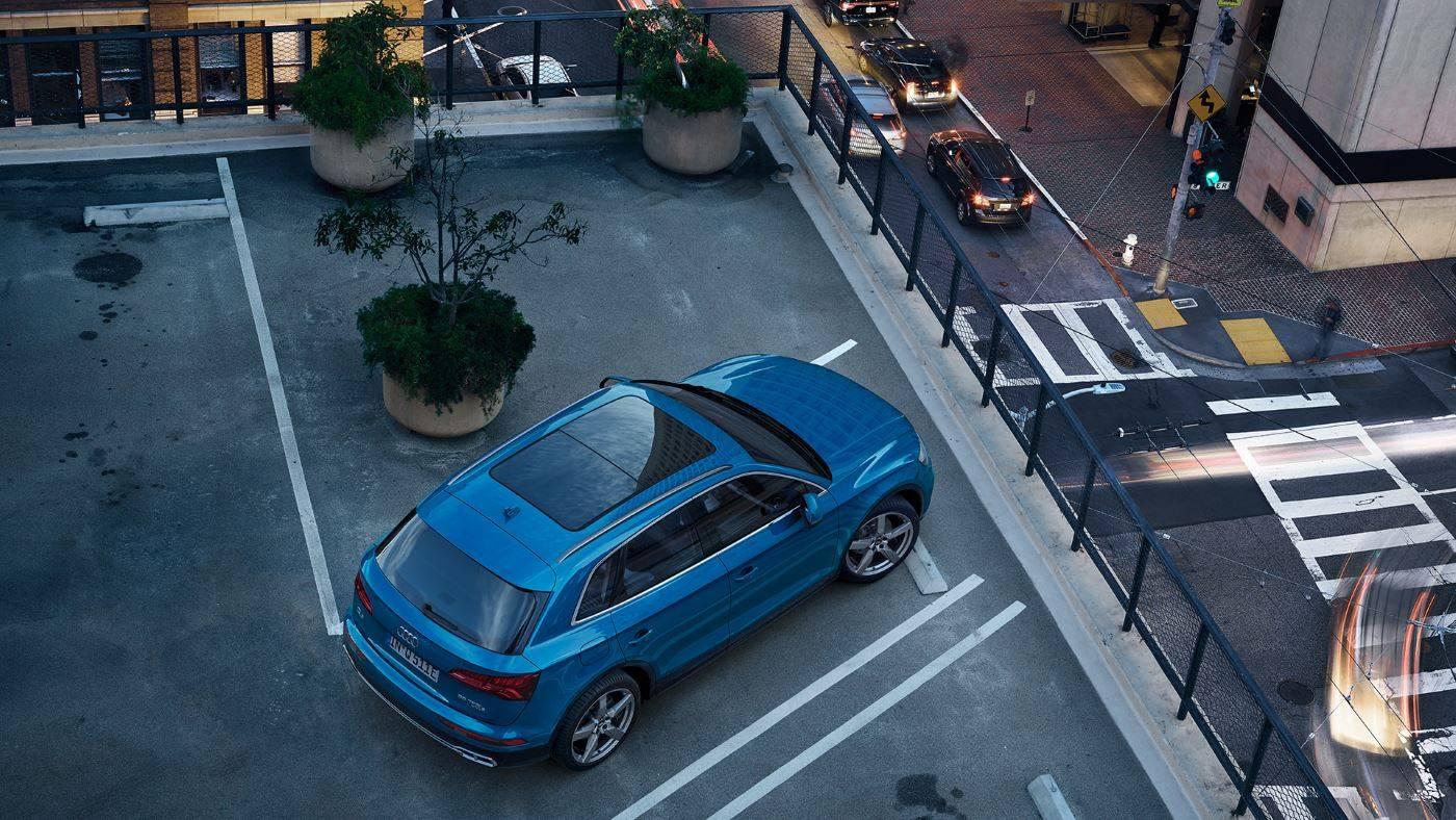 Audi Q5 TFSI e hybride rechargeable vue dessus