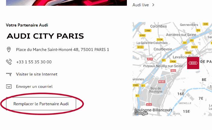 myAudi choisir pays - Tuto choix Partenaire Audi
