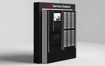 Borne Audi service station Roissy CDG