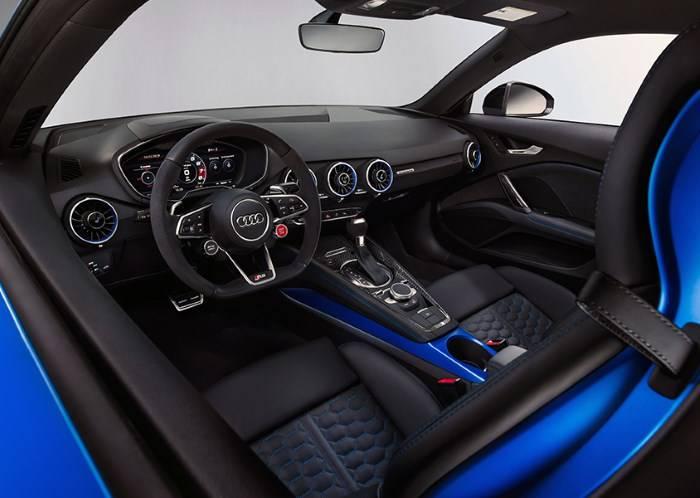 Audi TT RS 2019 sièges intérieur coupé bleu