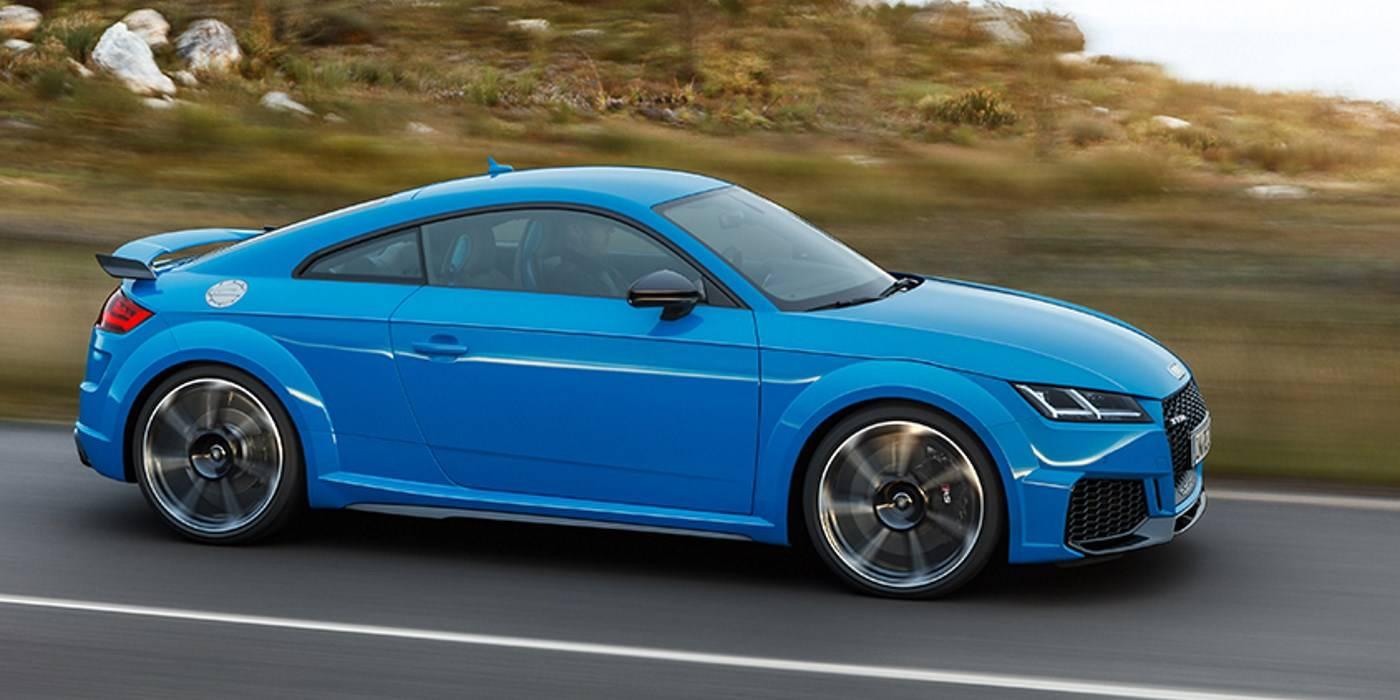 Audi TT RS 2019 profil dynamisme suspensions