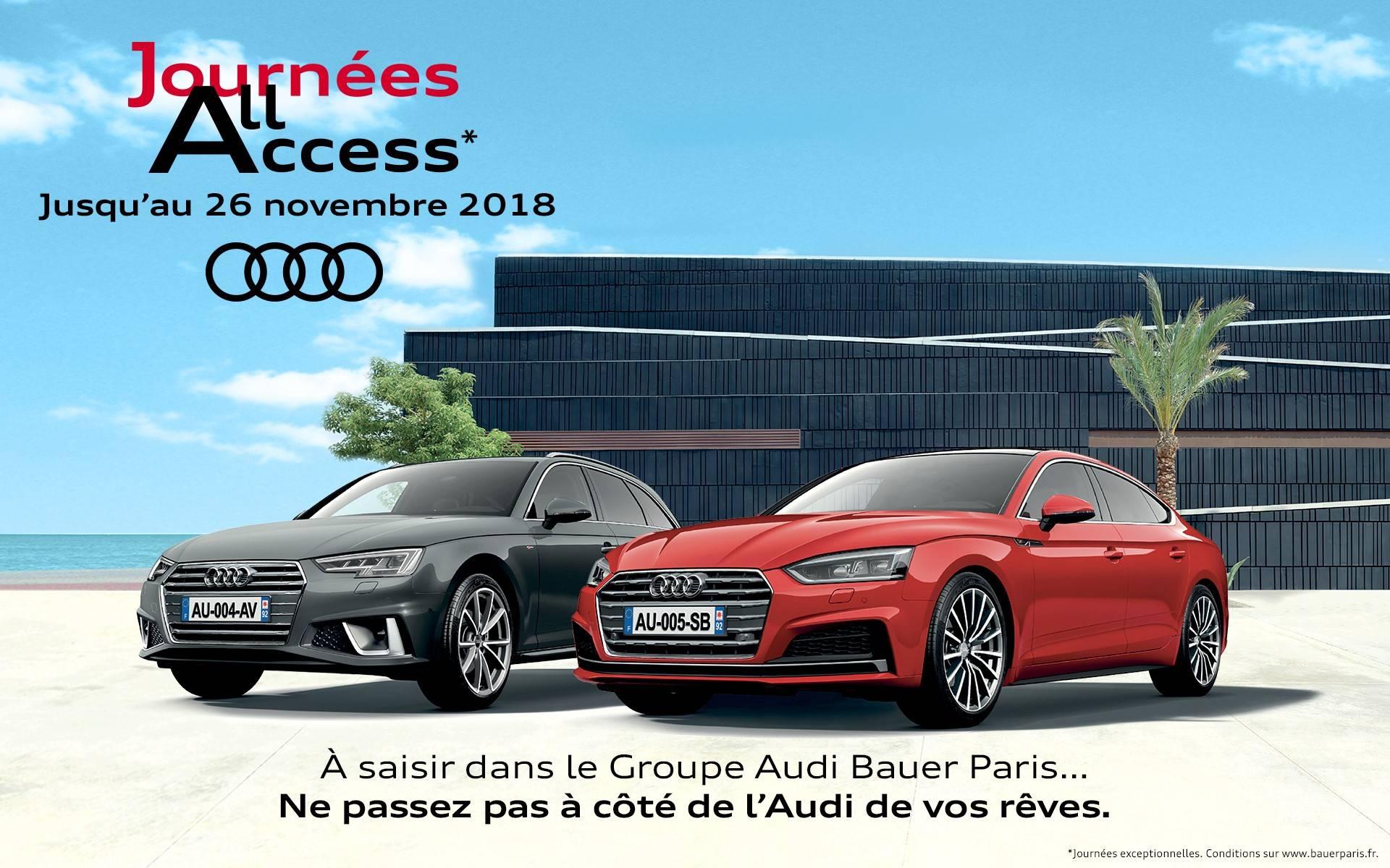 Journées All Access - Ajout Audi A4 et Audi A5
