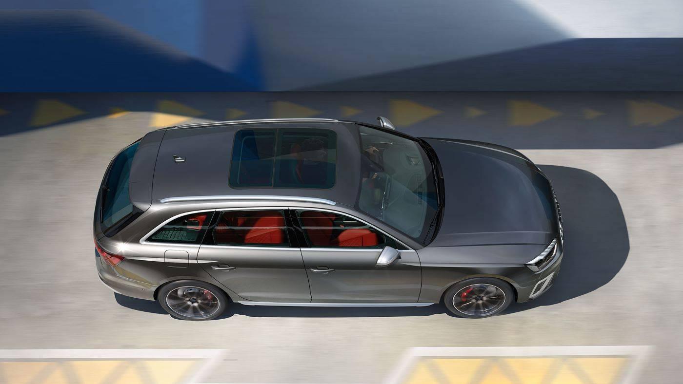 Nouvelle Audi S4 Avant 2019-2020 vue de dessus
