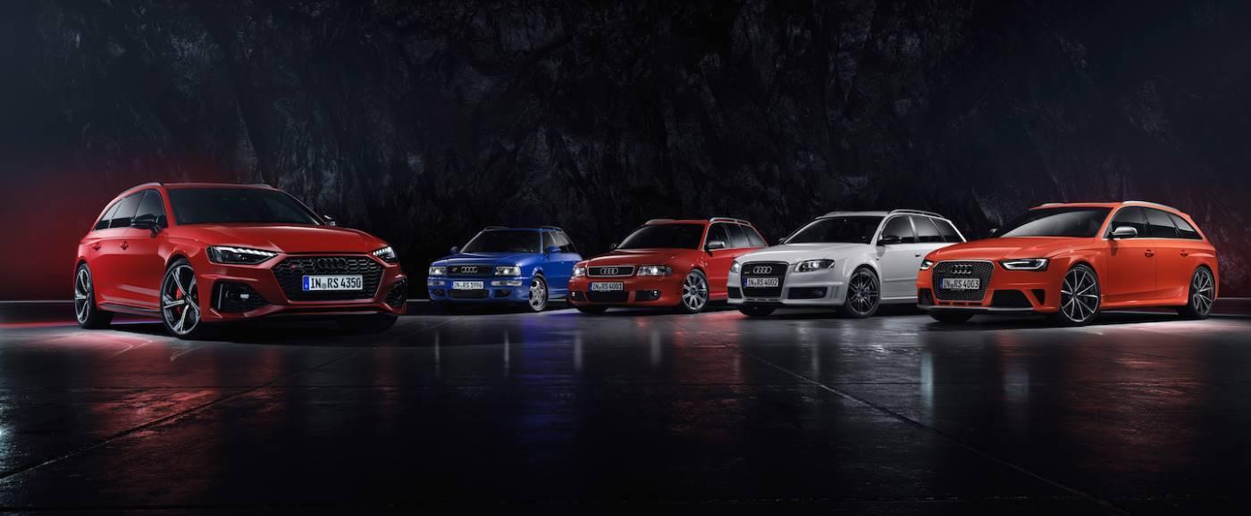 Audi RS4 Avant toutes génération historique