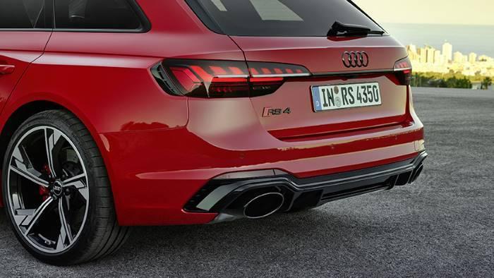 Sorties échappement Audi RS4 Avant 2019 2020