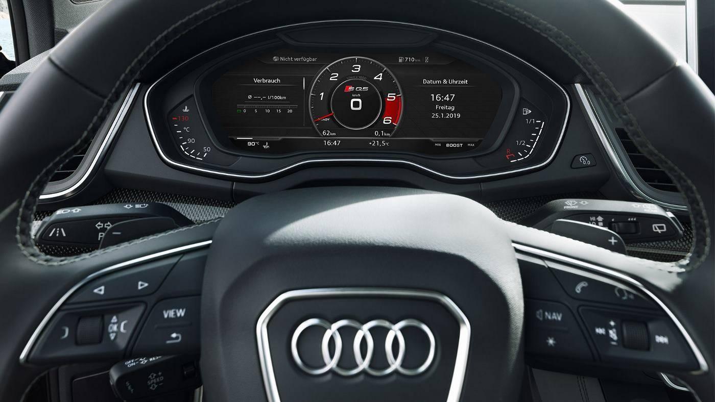 Nouvelle Audi SQ5 TDI virtual cockpit ecran volant