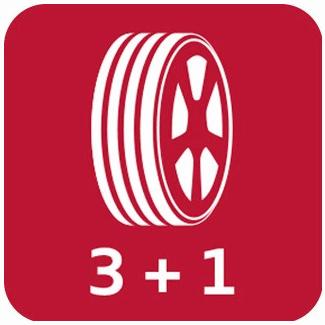 3 roues achetés = 1 roue offerte
