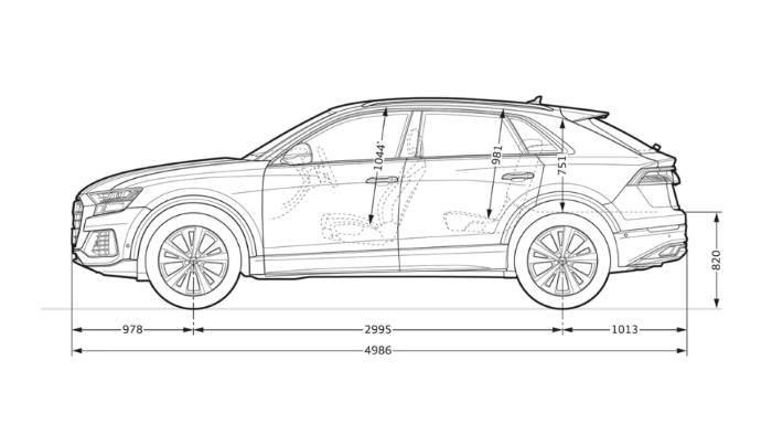 Audi Q8 > Dimensions de profil