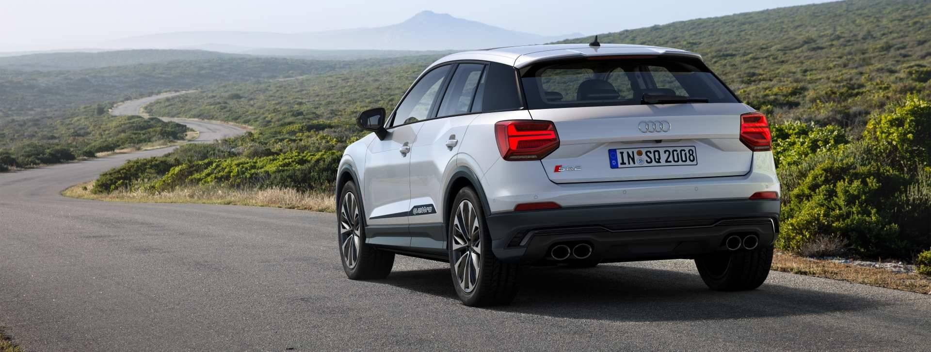 Nouvelle Audi SQ2 2019 3/4 arrière blanc