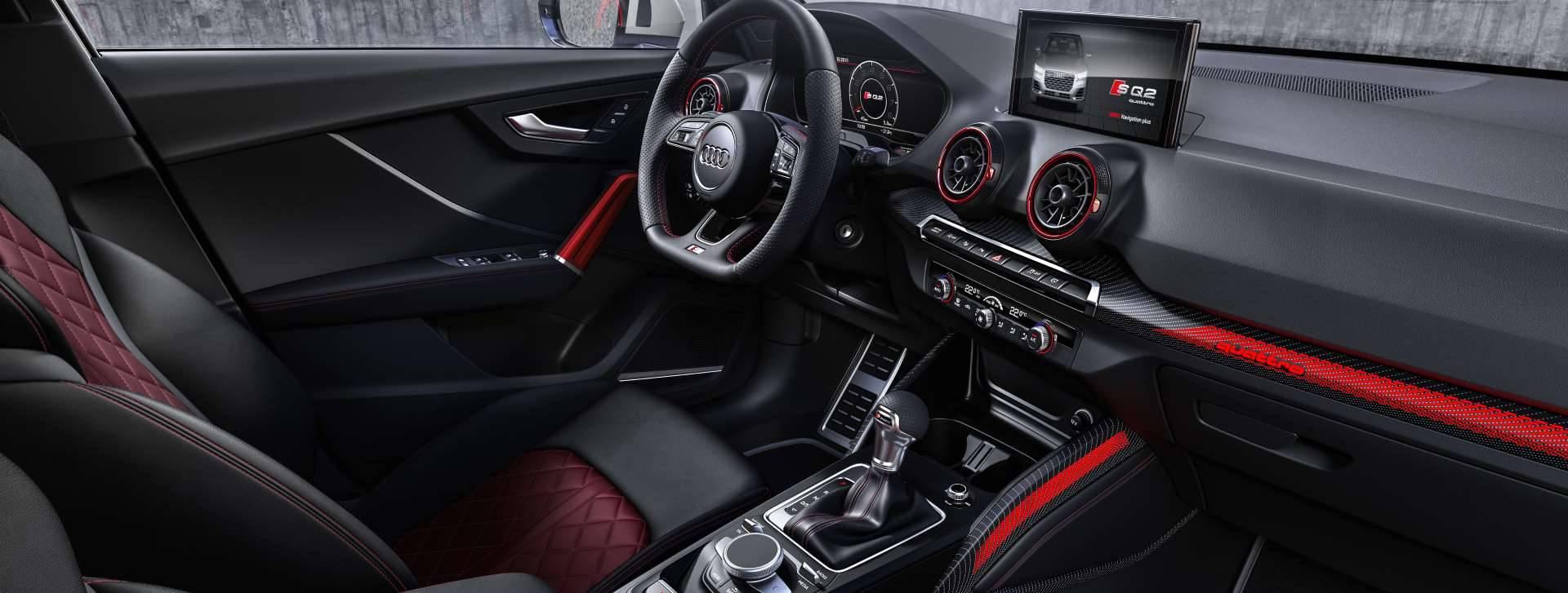 Nouvelle Audi SQ2 2019 3/4 avant blanc