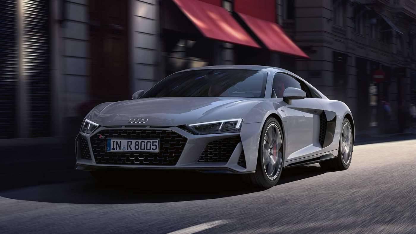 Nouvelle Audi R8 coupé V10 image photo avant 3/4