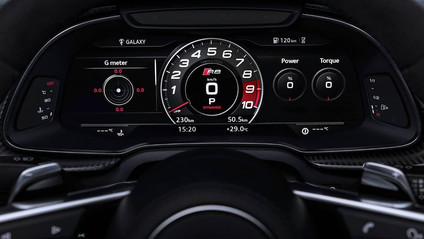 Nouvelle Audi R8 coupé V10 image photo cockpit