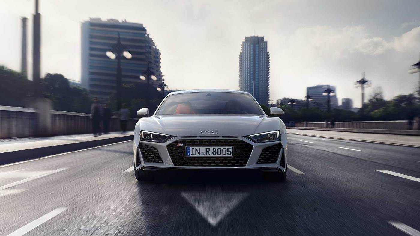 Nouvelle Audi R8 coupé V10 image photo face avant
