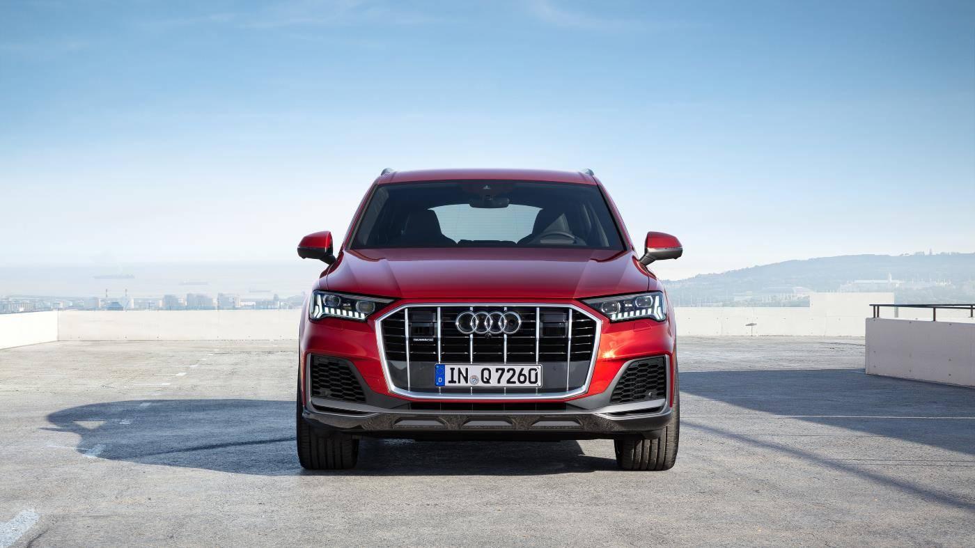 Nouvelle Audi Q7 2019 2020 face avant calandre