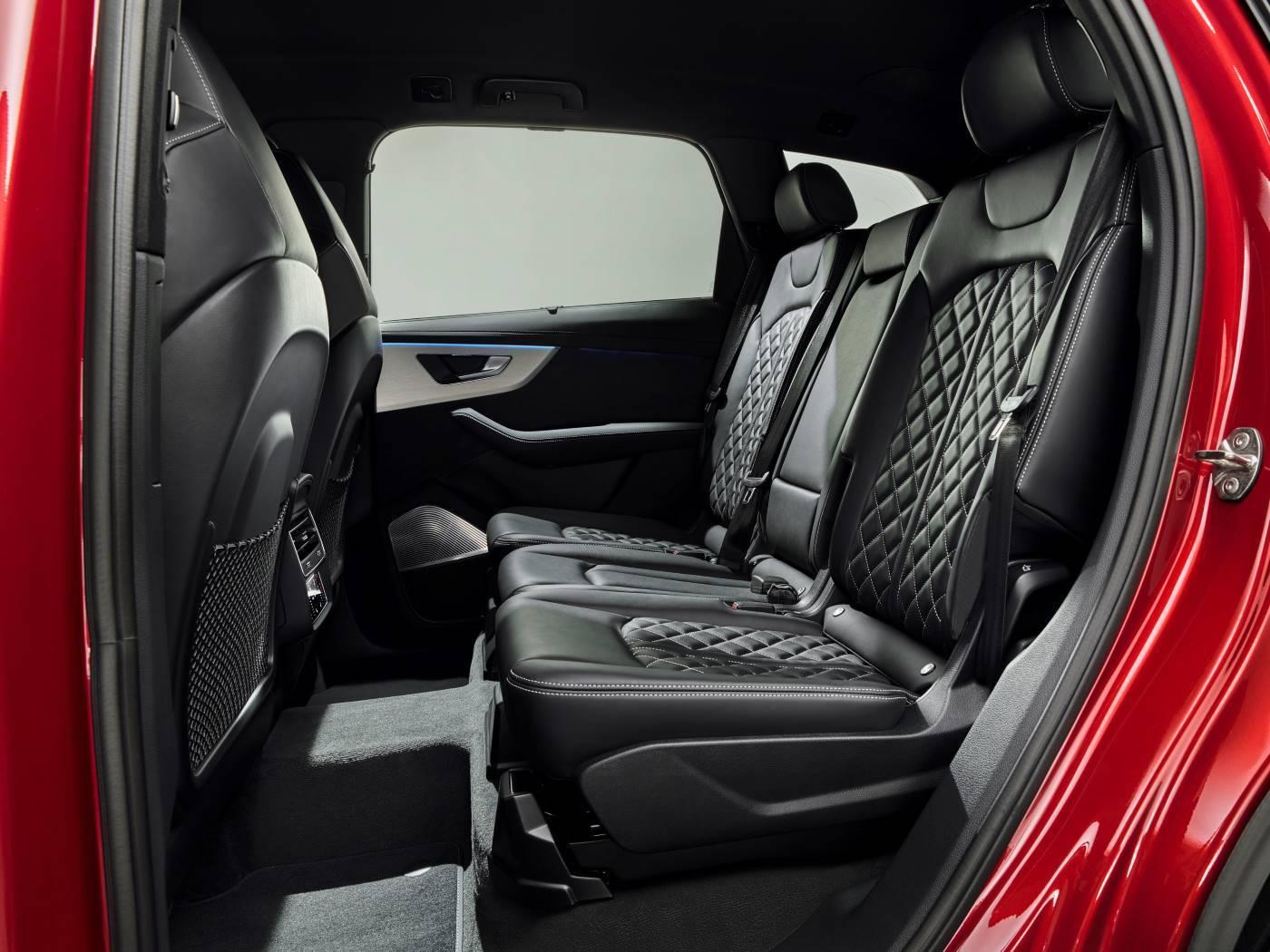 Nouvelle Audi Q7 2019 passagers arrière banquette